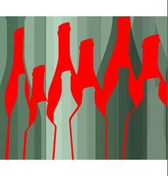 Background Bottle Ilustration Design vector