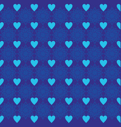 background love star ornament pattern dark blue vector image