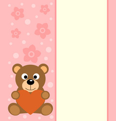 background with cartoon bear vector image