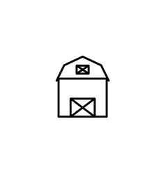 barn farm icon vector image