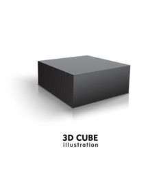 box black icon template for your design vector image