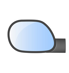 Car rear view mirror vector