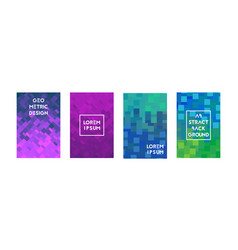 cards set with abstraction square texture vector image