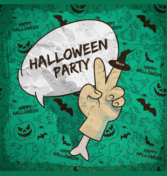 cartoon halloween greeting poster vector image
