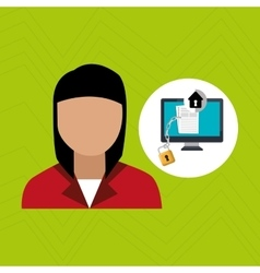 character laptop security vector image