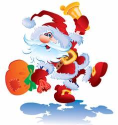 cheerful santa vector image
