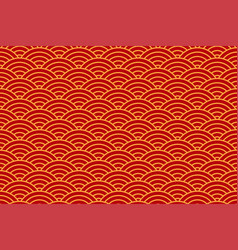 chinese traditional oriental background with red vector image