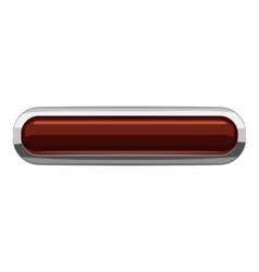 Chocolate rectangular button icon cartoon style vector