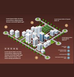 city megapolis structure vector image