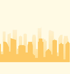 cityscape background with seamless pattern vector image