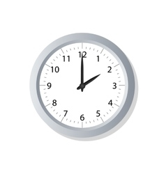 Clock symbol icon on white vector