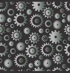 cogwheel seamless pattern silver color gradient vector image