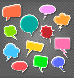 comic speach bubbles on transparent background vector image
