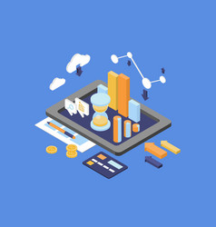 Concept business analytics finance and vector