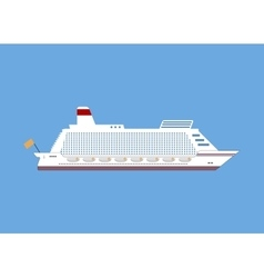 cruise ship isolated on blue background vector image