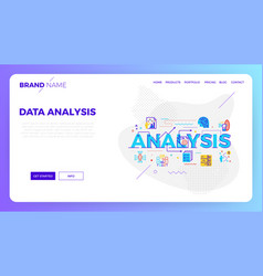 data analysis web template vector image
