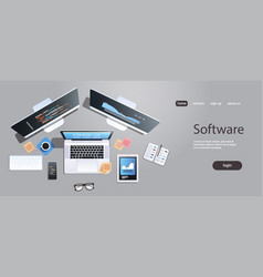 design software development programming concept vector image
