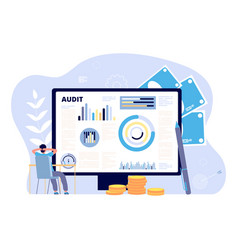 financial audit concept business strategies risk vector image