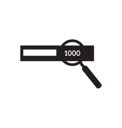 Flat icon in black and white Money magnifier vector