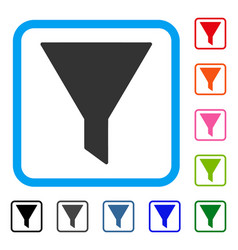 Funnel framed icon vector