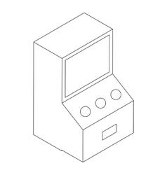 Game machine icon isometric 3d vector image