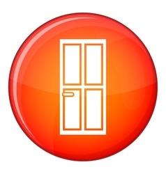 Glass door icon flat style vector image