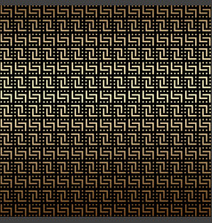 Golden and black geometric seamless pattern vector