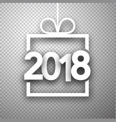 Grey 2018 new year backgorund vector