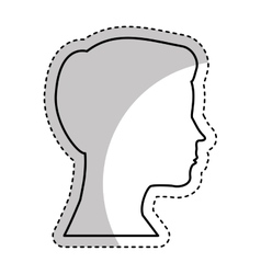 Head man profile icon vector