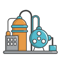 industrial abstract machine icon cartoon style vector image