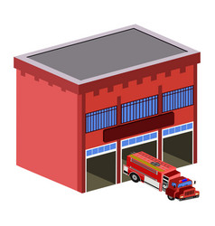 Isolated fire station vector