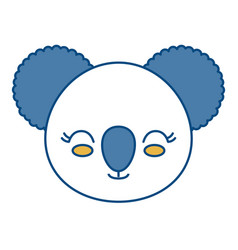 Kawaii koala icon vector