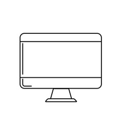 line technology computer to business electronic vector image