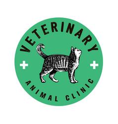 logotype veterinary clinic vector image