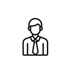 male student icon vector image