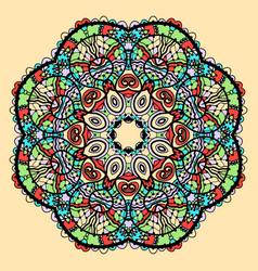 Mandala stylized indian tribal flower like vector