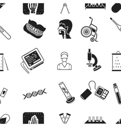 Medicine and hospital pattern icons in black style vector