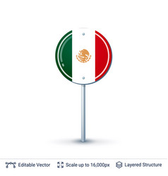 Mexico flag isolated on white vector