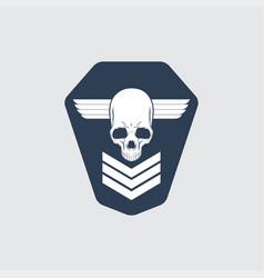 military symbols rank icon vector image