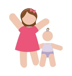 Mother and child icon image vector