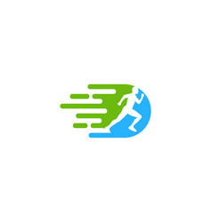 Movement run logo icon design vector