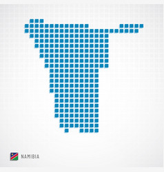 Namibia map and flag icon vector