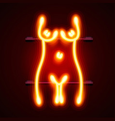 Neon sign striptease striptease bar alcohol vector