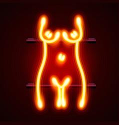 neon sign striptease striptease bar alcohol vector image