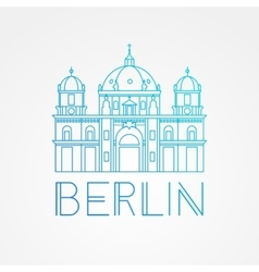 One line minimalist icon of german berlin vector