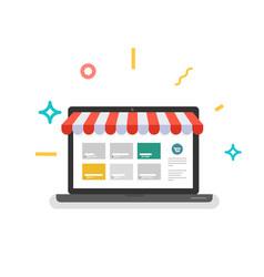 online shop web store vector image