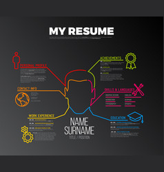 original cv resume template vector image