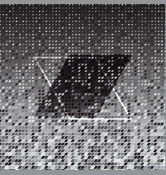 Parallelogram silver halftone abstract background vector