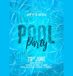 pool party flyer template vector image