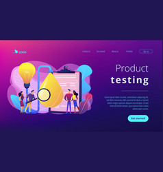 Product testing concept landing page vector